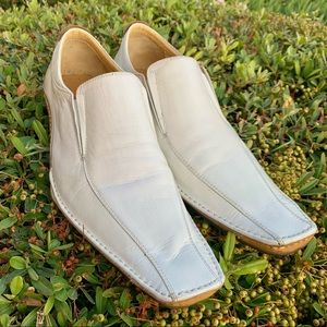 Martello Hand Made Italian leather men's shoes off white size 44